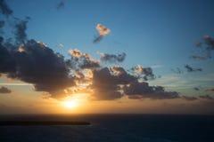 Sunset at Santorini, Greece Royalty Free Stock Image
