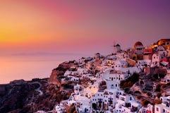 Sunset at Santorini, Greece Royalty Free Stock Photography