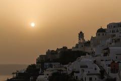Sunset in Santorini Greece Stock Photos