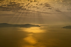 Sunset Santorini Stock Image