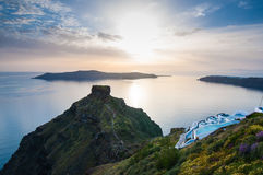 Sunset in Santorini Royalty Free Stock Photography