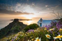 Sunset in Santorini Stock Image