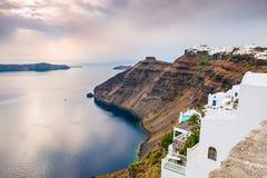 Sunset on Santorini island, Greece Royalty Free Stock Photography