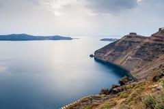Sunset on Santorini island, Greece Stock Photos