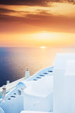 Sunset on Santorini island, Greece. Royalty Free Stock Image