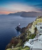 Sunset at Santorini island,Greece Stock Photo