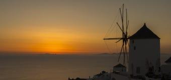 Sunset in Santorini island Stock Photos