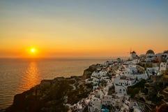 Sunset in Santorini. Sunset in Oia, Santorini, Greece royalty free stock image