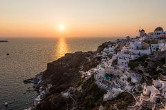 Sunset. Santorini sunset, in Oia. Greece. Cyclades Stock Image