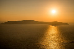 Sunset in Santorini Stock Image