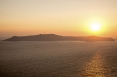 Sunset in Santorini Stock Photos