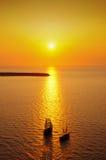 Sunset at Santorini Royalty Free Stock Photos