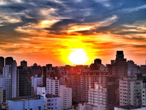 Sunset in Sao Paulo Stock Photos