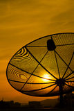 Sunset and satellite dish Royalty Free Stock Photography