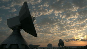 Sunset at Satellite Earth Station Stock Photos