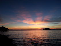 Sunset at sattahip Royalty Free Stock Photo