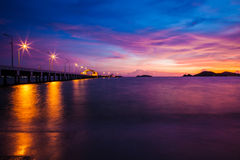 Sunset at sattahip Royalty Free Stock Photos