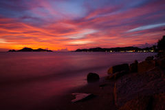 Sunset at sattahip Royalty Free Stock Photography