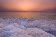 Sunset scenary at Dead Sea, Jordan Royalty Free Stock Photo