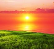 Sunset scene Royalty Free Stock Photo