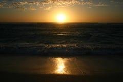 Sunset scene. Beautiful sunset scene on a sandy beach. Australia Stock Photos