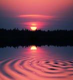 Sunset scene Stock Photography