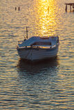 Sunset Scene with Boats, Corfu Royalty Free Stock Photography