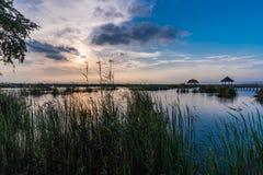 Sunset scene at Bung Bua. At Khao Sam Roi Yod National park, Thailand Stock Photography