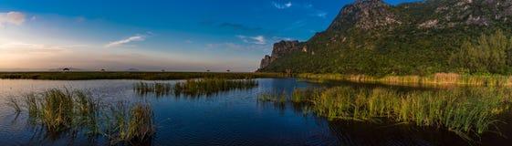 Sunset scene at Bung Bua. At Khao Sam Roi Yod National park, Thailand Stock Photos