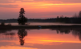 Sunset scene on lake Royalty Free Stock Photography