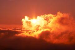 Sunset scene. In mountain Stock Image