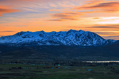 Sunset scene in the Ogden Valley. Royalty Free Stock Photography