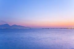 Sunset scene over the ocean Stock Photos