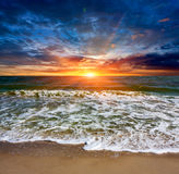 Sunset scene over sea Royalty Free Stock Images