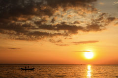 Sunset scenery. Beautiful sunset scebery at chantaburi, Thailand Stock Photos