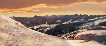 Sunset scenery in the austrian alps Stock Photos