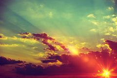 Sunset Scenery Background Royalty Free Stock Image