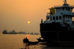 Sunset Scenery. Beautiful Sunset scenery at river bank stock photo