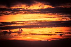 Sunset Scenery. Sunset Cloudscape Photo Background stock image