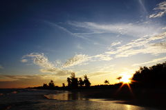 Sunset scenery. From the east of thailand Stock Photos