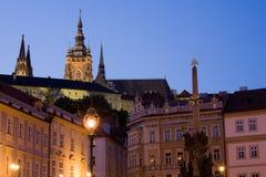 Sunset scenery in Prague stock photos
