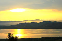 Sunset at scenic point of Khao Fha Chee Royalty Free Stock Photography