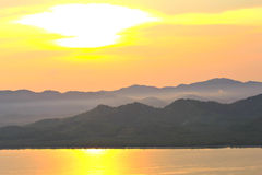 Sunset at scenic point of Khao Fha Chee Stock Photo