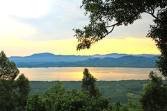 Sunset at scenic point of Khao Fha Chee Stock Image