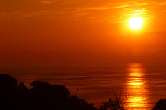 Sunset. Scenic view of beautifull sunset above the sea Stock Image