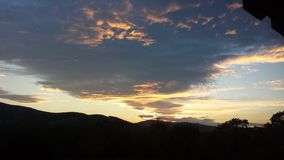 Sunset from the Scottish borders. While biking Royalty Free Stock Image