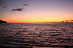 Sunset on the sea. A beautiful photo of a sunset on a mediterranean sea Royalty Free Stock Photos