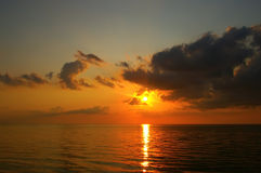 Sunset sea Royalty Free Stock Photography