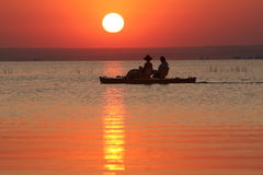 Sunset in the sea Stock Image