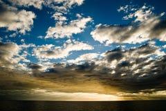 Sunset a sea Stock Photo